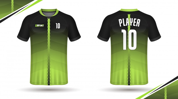 Fußball jersey vorlage sport t-shirt design