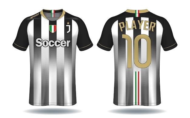 Fußball jersey vorlage. sport t-shirt design.