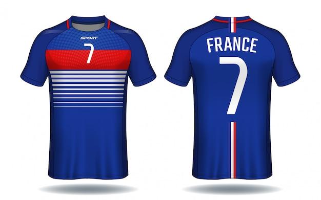 Fußball-jersey-vorlage. sport t-shirt-design.
