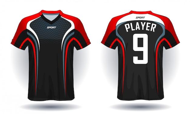 Fußball jersey vorlage sport t-shirt design.