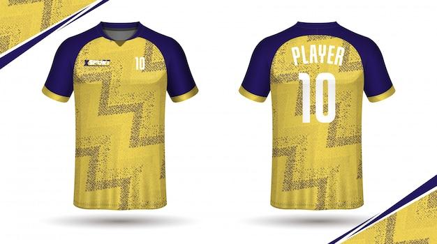 Fußball jersey vorlage sport t-shirt