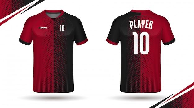 Fußball jersey vorlage-sport-t-shirt