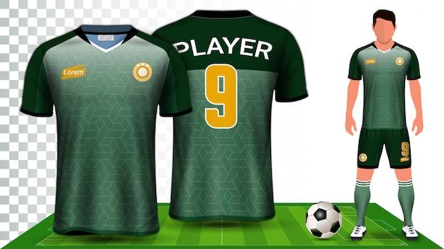 Fußball-kit uniform präsentation mockup-vorlage