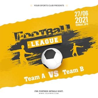Fußball-liga-konzept mit realistischem fußball