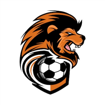 Fußball-lion-team-logo