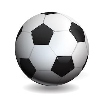 Fußball lokalisiert auf weiß