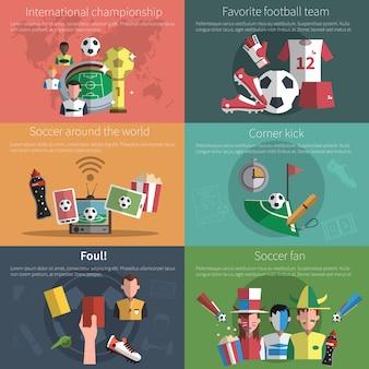 Fußball mini banner set