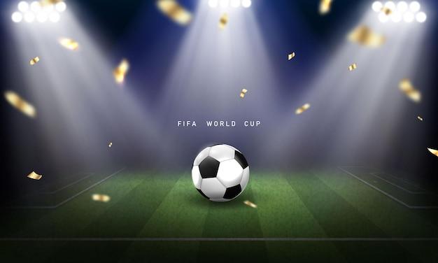Fußball-muster-hintergrund für banner, fußballmeisterschaft 2022 in fifa