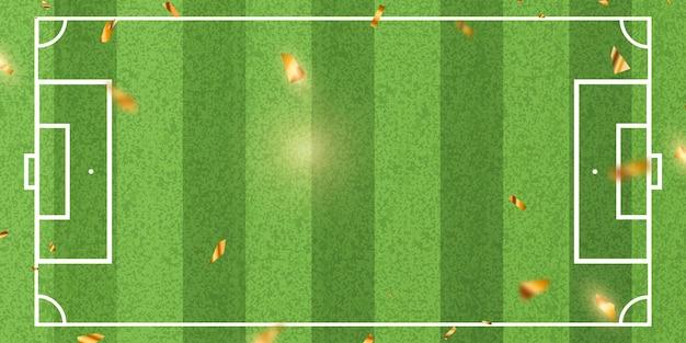 Fußball-muster-hintergrund für banner, fußballmeisterschaft 2022