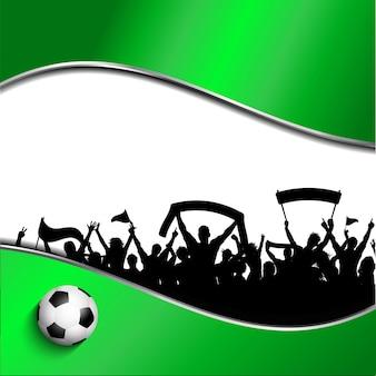 Fußball oder fußball menschenmenge hintergrund