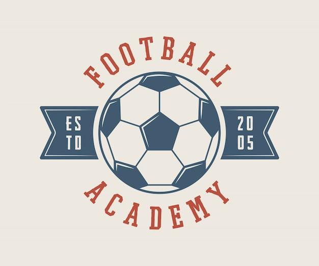 Fußball oder fußballlogo