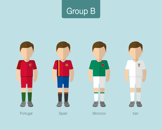 Fußball- oder fußballteamuniform 2018.
