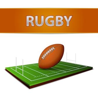 Fußball oder rugby ball emblem