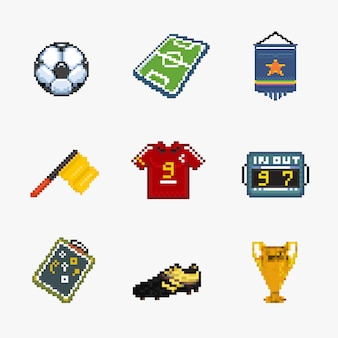 Fußball-pixel-symbol