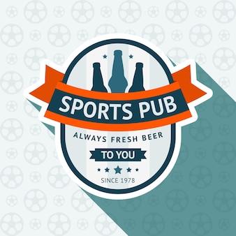 Fußball pub abzeichen illustration design
