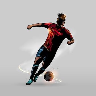 Fußball schritt vorwärts