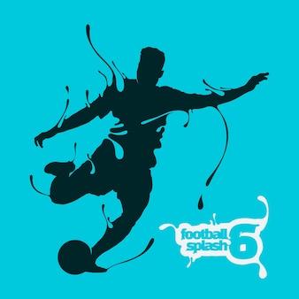Fußball-splash-silhouette