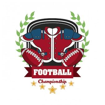 Fußball sport meisterschaft turnier emblem