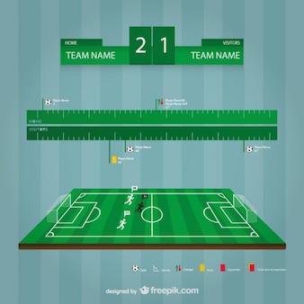 Fußball-stadion-vektor-vorlage