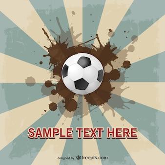 Fußball suburst vektor-vorlage design