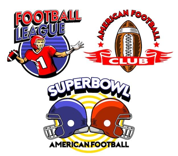 Fußball-super bowl-liga-abzeichen