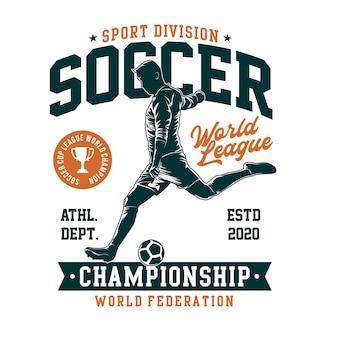 Fußball-t-shirt illustration im flachen design