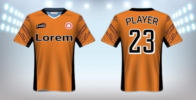 Fußball-t-shirt sport-modell-schablone