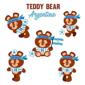 Fußball-teddybär argentinien