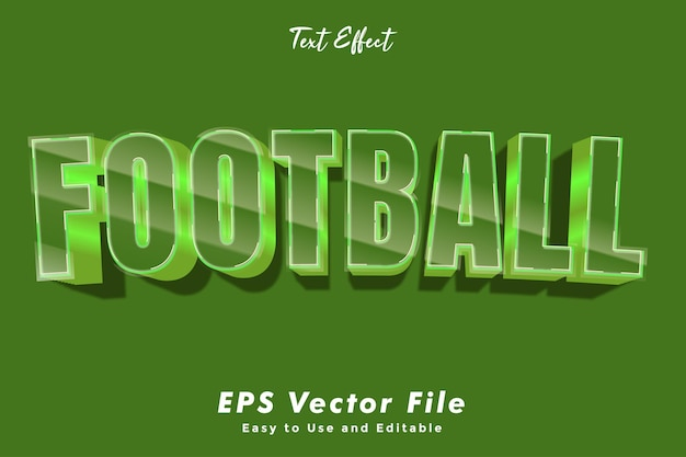 Fußball-texteffekt. bearbeitbar und einfach zu bedienen. typografieeffekt