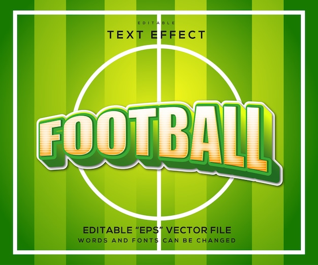 Fußball-texteffekt