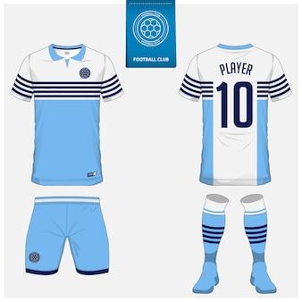 Fußball trikot oder fußball kit template design