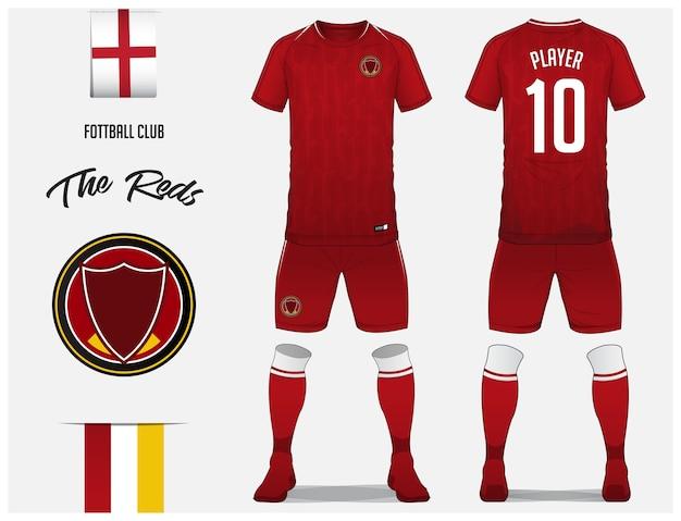 Fußball-trikot oder fußball-kit-vorlage