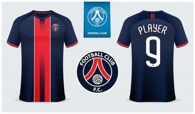 Fußball trikot oder fußball kit vorlage