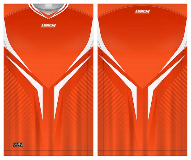 Fußball trikot t-shirt sport vorlage uniform vorne und hinten