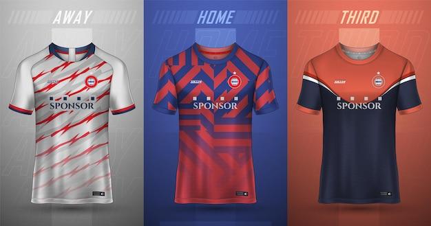Fußball-trikot-vorlage sport-t-shirt-design