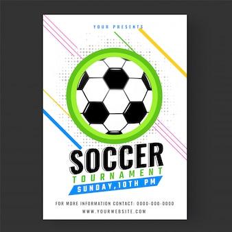 Fußball-Turnier-Flyer oder Banner-Designs