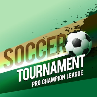 Fußball turnier meisterschaft liga vektor design hintergrund