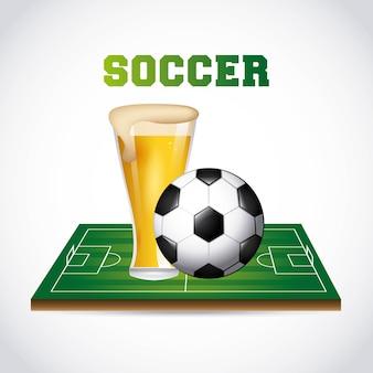 Fußball- und bierdesign