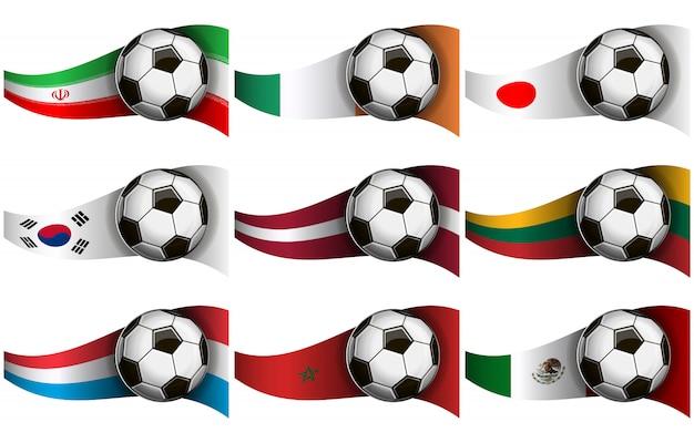 Fußball und flaggen
