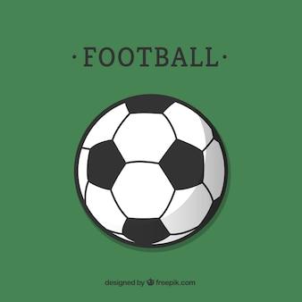 Fußball-vektor-vorlage flach