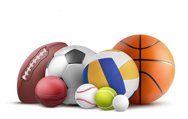 Fußball-, volleyball-, baseball- und rugbyausrüstung