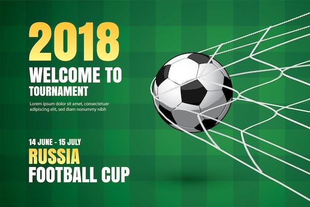 Fußball-weltmeisterschaft-hintergrund des fußballs 2018 des fußballsports