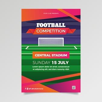 Fußball wettbewerb sport flyer vorlage