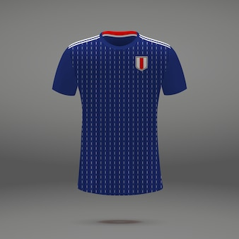 Fußballausrüstung von japan, t-shirt schablone für fußball jersey