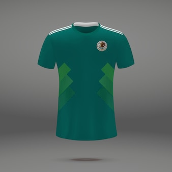 Fußballausrüstung von mexiko, t-shirt schablone für fußball jersey