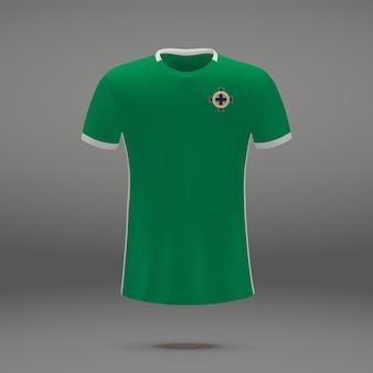 Fußballausrüstung von nordirland, t-shirt schablone für fußball jersey