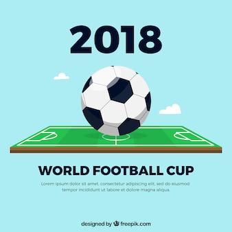 Fußballcuphintergrund mit feld