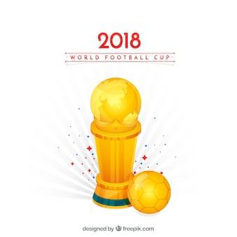 Fußballcuphintergrund mit goldener trophäe