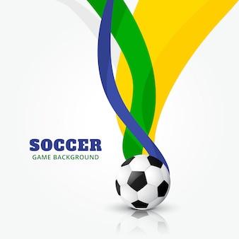 Fußballdesign mit wellenformen