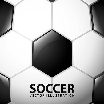 Fußballdesign über ballhintergrund-vektorillustration